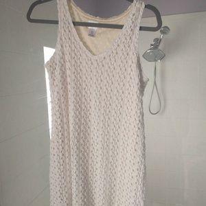 Motherhood maternity textured cream tank top shirt
